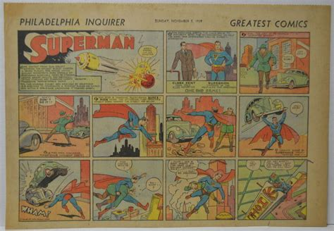 Superman Sunday Comic Strip #1 Nov 5, 1939 2/3 Full