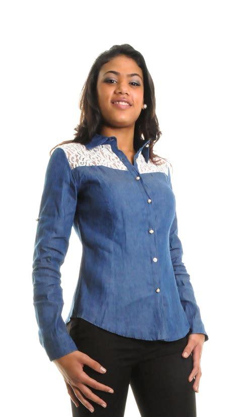 chemise en jean pour femme pret  porter feminin  masculin