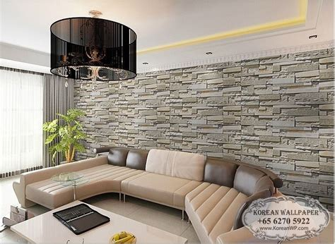 living room with brick wallpaper brick wallpaper living room design nakicphotography