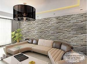 Brick Wallpaper In Living Room