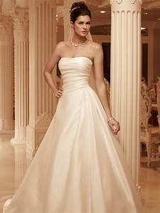 strapless full a line casablanca bridal gown 2101 With casablanca a line wedding dress