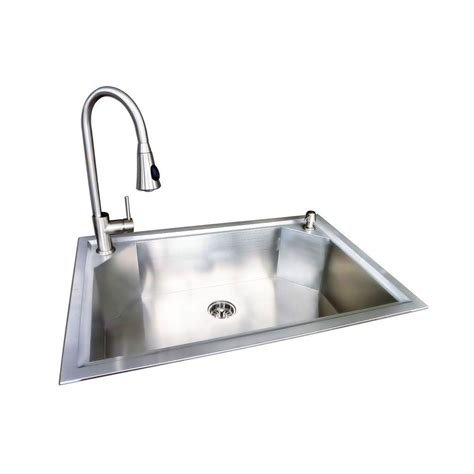 stainless steel sink faucet glacier bay dual mount stainless steel 22 in 1 hole