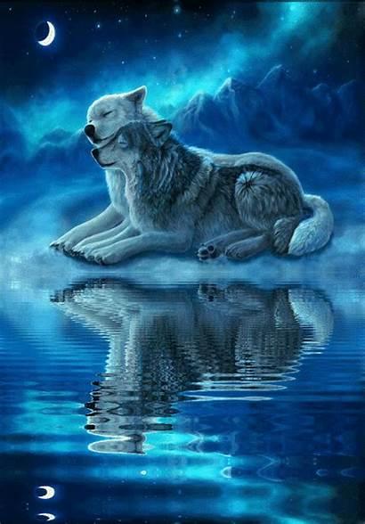 Spirit Animal Wolf Wolves Moon Fantasy Anime