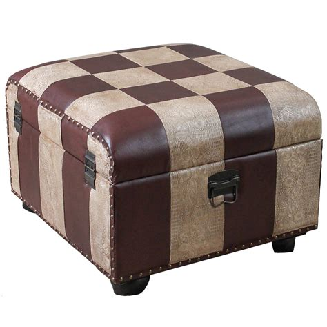faux leather trunk faux leather ottoman trunk with lid in ottomans 3722