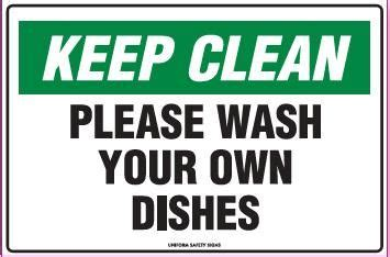 Kitchen Clean Up Signs by Printable Keep Breakroom Clean Signs Keep Clean Sign