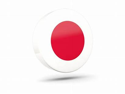 Japan Icon Flag Round Glossy Commercial Non