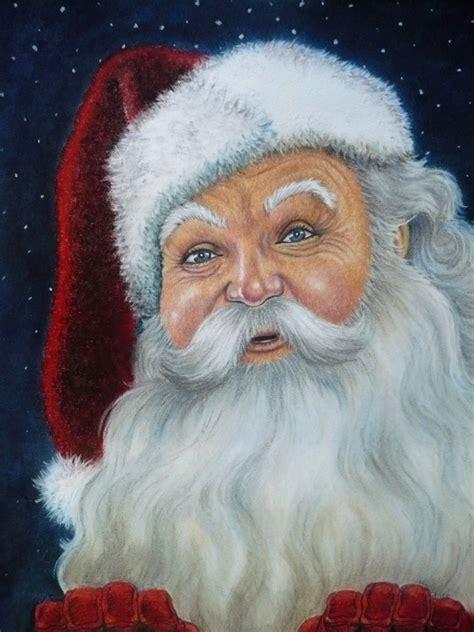 santa claus portraits mary clare s artwork
