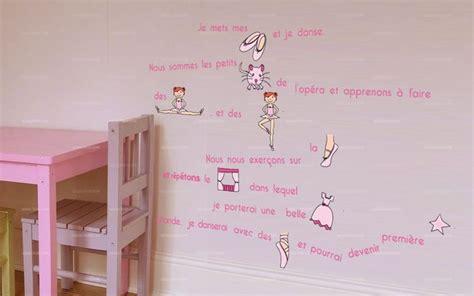 chambre enfants fille stickers histoire de danse