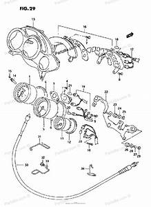 Suzuki Motorcycle 1995 Oem Parts Diagram For Speedometer