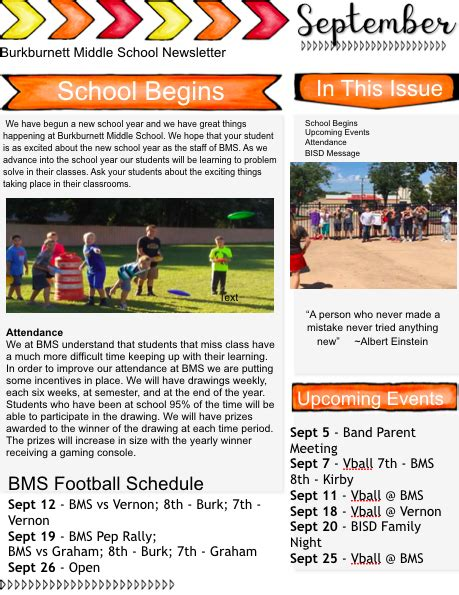 bms september newsletter