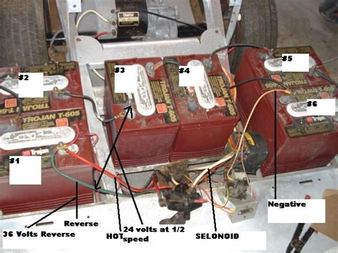 1993 Club Car 36 Volt Battery Wiring Diagram by Here Is The Batteries And Their Numbers With The 36