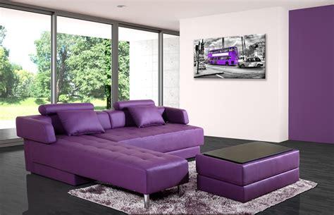 canapé convertible violet canape d angle convertible cuir meilleures images d
