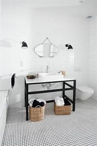 vous cherchez des idees pour un carrelage noir et blanc With salle de bain noir et argent