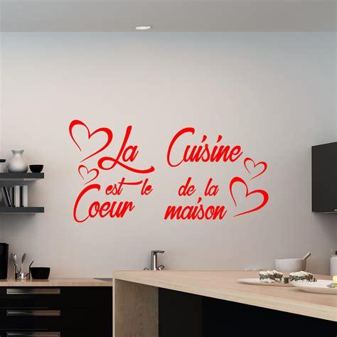 sticker citation la cuisine est le coeur de la maison