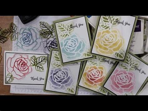 rose garden stencil  cardmaking youtube
