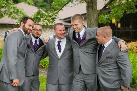 Slate Gray Groomsmen Suits- Minus The Purple