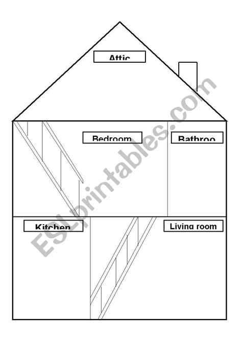 english worksheets draw  house
