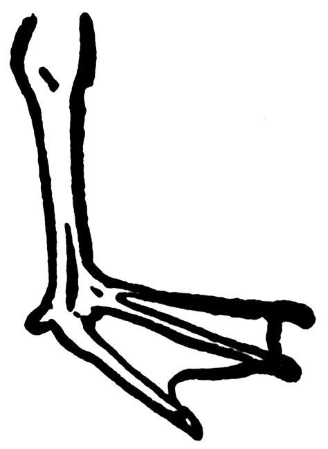 duck feet clipart
