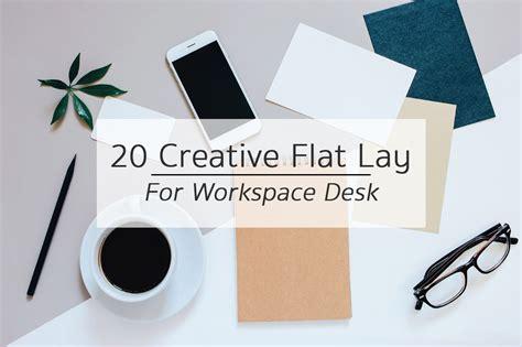 creative flat lay workspace desk business