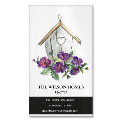 rustic white floral birdhouse real estate realtor business