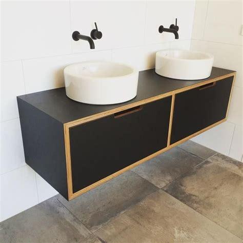 Formica Bathroom Vanities - formica 174 laminate black vanity on birch plywood