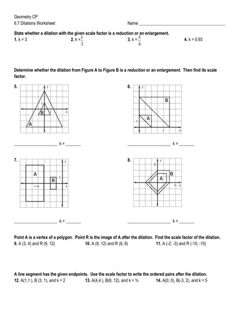 pictures geometry dilation worksheet getadating