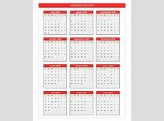 Calendario 20182019 PlanillaExcelcom