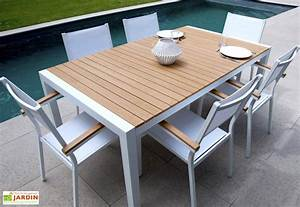 Table Teck Jardin : table jardin teek alu composite 180x100x74 5 teek table rectangulaire residence ~ Teatrodelosmanantiales.com Idées de Décoration