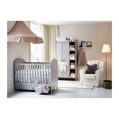 commode chambre bébé ikea gonatt cot light grey 60x120 cm ikea