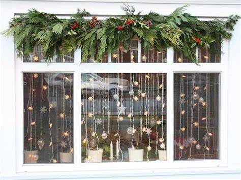 christmas window decorations christmas garlands