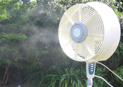 outdoor misting fan cool