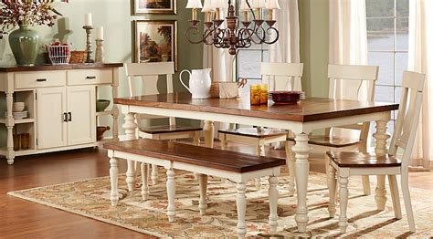 farmhouse kitchen table sets rooms to go hillside cottage white 5 pc dining room dining room sets