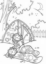 Coloring Camping Printable Pages sketch template