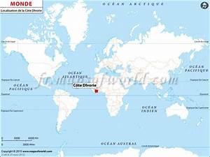 Cote Des Timbres Du Monde : c te d 39 ivoire sur la carte du monde ~ Medecine-chirurgie-esthetiques.com Avis de Voitures