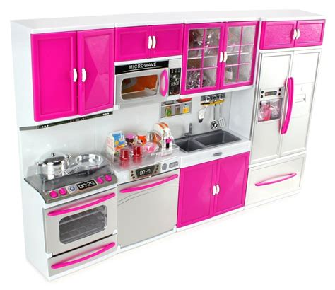 Kiddie Kitchen Play Set by My Modern Kitchen 32 Deluxe Kit Battery Operated