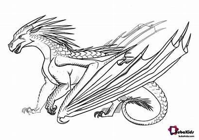 Wings Coloring Fire Dragon Nightwing Dragons Wing