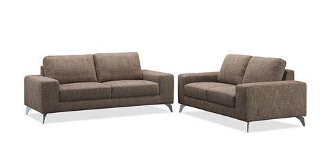 canapé tissu moderne canapé de salon design 2 places en tissu marron longueur