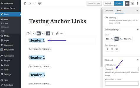 How Create Anchor Links Easy Methods