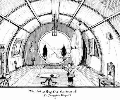 Tolkien End Bag Hall Hobbit Hole Bilbo