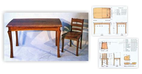 dining table  chairs plans woodarchivist