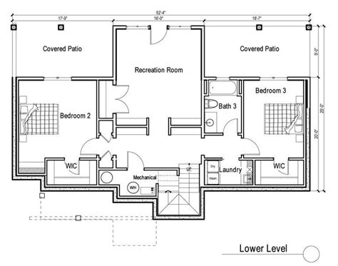 house plans with daylight basement 2 bedroom house plans with walkout basement inspirational