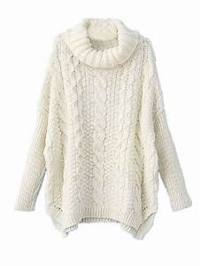 Women'S White Cable Knit Sweater - Cardigan With Buttons