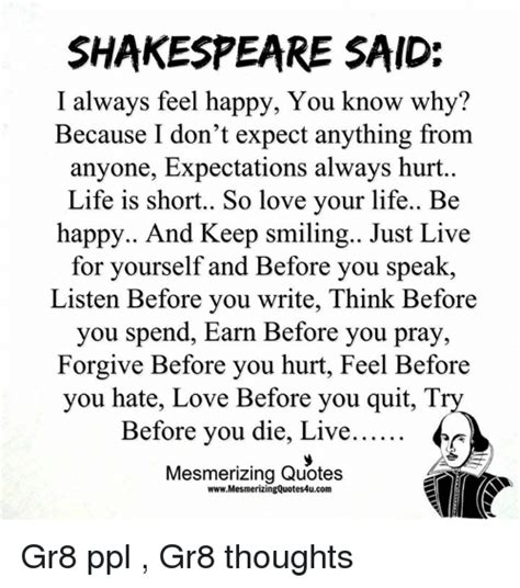 Never Expect Anything From Anyone Quotes Shakespeare