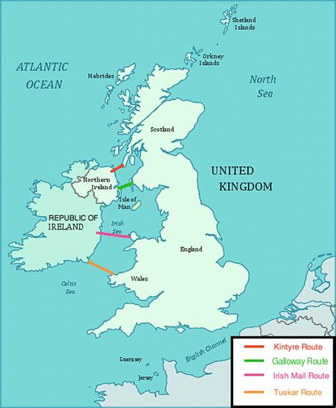 British Isles Fixed Sea Link Connections Wikipedia