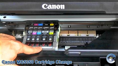 canon pixma mg   change ink cartridges youtube