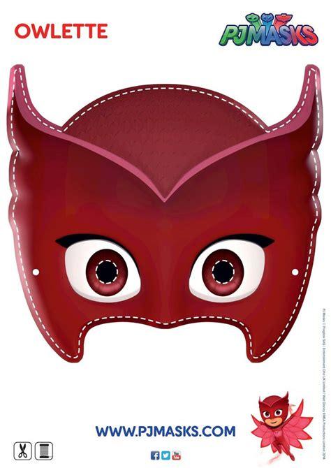 pj masks template make your own owlette mask pjmasks owlette disneyjunior pj masks for