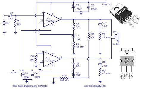 Audio Amplifier Circuit Diagram Watts