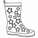 Coloring Boots Rain Clipart Popular sketch template