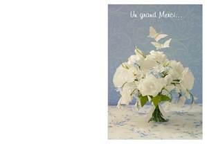 cartes de remerciements mariage carte à imprimer de remerciement mariage pour exprimer sa reconnaissance