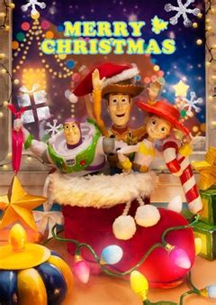 disney pixar toy story christmas  lenticular greeting